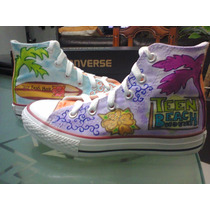 Tenis Converse Personalizados Teenage Beach Movie Serie Iph