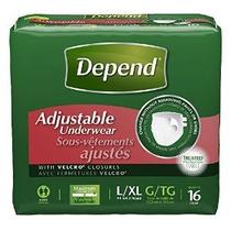 Depend Underwear Incontinencia Ajustable Absorbencia Máxima