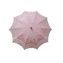 Sombrilla Battenburg Adultos Del Parasol Del Cordón Rosa