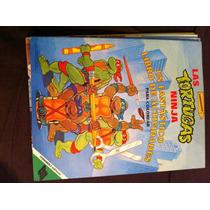 Revista Tortugas Ninja Para Colorear Y Jugar Acertijos