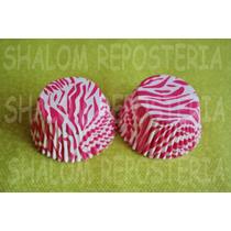 *capacillos Zebra Fiusha Animal Print Muffin Cupcake Fondant