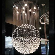 Lampara De Cristal Forma Esfera Luz Led Para Techo