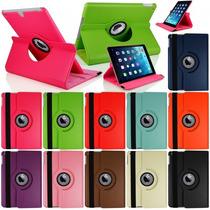 Barata Funda Ipad Apple 4 3 2 Piel 360º Giratoria, Case Au1