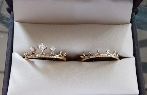 4138b956ad09 Par De Anillos Rey Y Reina Corona Oro Solido 14k Garantizado en ...