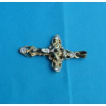 Crucifijo En Oro Amarillo Y Blanco De 14 Kt.