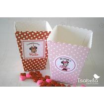 Paquete Cajitas Palomitas Dulces Cumpleaños Mimi Minie Mouse