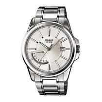 Reloj Casio Caballero Mtp-e102 Gris Retro Analogo Fecha Maa