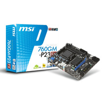 Tarjeta Madre Amd Msi 760gm-p23 Am3 Video Ati Ddr3 Pci-e