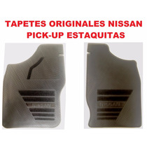 Tapetes Originales Nissan Pick Up/estaquitas Vinil Negro