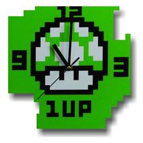 Relojes De Pared Hongo Mario Bros Toad 8 Bits.