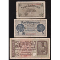 Coleccion De 3 Billetes Alemania Nazi
