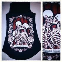 Playeras Ojos Bebe Esqueleto Gato Frida Lobo Rock Punk Moda