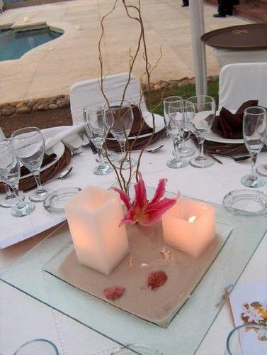 Centro de mesa muy hermoso bodas eventos fiestas playa - Centros de mesa para bodas precios ...
