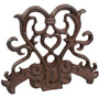 Detener Puerta Rústico - Cast Iron Heart Wedge Figurita País