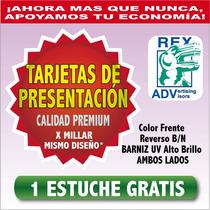 1000 Tarjetas De Presentacion Barniz Uv Premium!! Todo Color