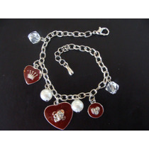 Pulsera Con Colgantes Amuleta Amor Metal Inoxidable