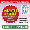 1000 Volantes Flyers Flayer Un Cuarto 1/4  Todo Color 17¢