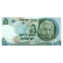 Grr-escaso Billete De Israel 5 Lirot 1968 - A. Einstein !!!!
