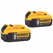 Set De Baterias (2 Pcs) Dewalt Dcb205-2 Xr 5.0 Ah Litio 20v