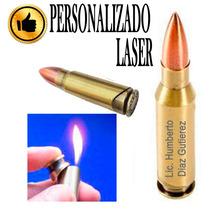 Encendedor Bala Con Personalizado Laser Recargable Divertido