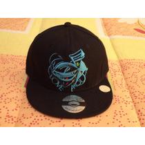 Gorra Negra C/azul Akolatronic 7 1/8 Nueva Etiquetada