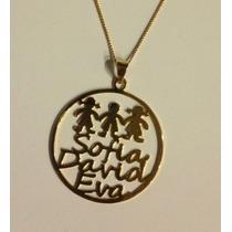 Dije Personalizado Nombres Chapa Oro Collar Cadena Joyas