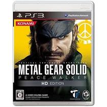 Metal Gear Solid Peace Walker Hd Edition Ps3 Japonesa