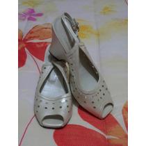 Zapatillas Muro Color Perla 100% Piel Cabra Suela De Cuero