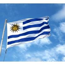 Bandera De Uruguay 1.5mts De Largo X 90cm Seleccion Fotball