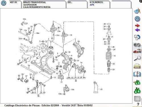 diagramas de despiece vw  seat  audi 2004  otros  a mxn 50