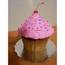 Pastel Cup Cake Gigante Delicioso Decorado Sabores Postre