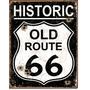 Poster Cartel Afiche Metal Letrero Retro Old Route 66 Histor