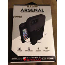 Funda Mica Zagg Arsenal Iphone 5 (negro Y Azul) Vv4