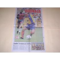Poster Alex Aguinaga Seleccion De Ecuador Mundial 2002