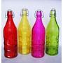 Botellas De Vidrio Vacías Con Tapón 1 Lt Florero Dulces