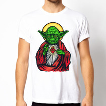 Playera Camiseta Star Wars Yoda 100% Calidad