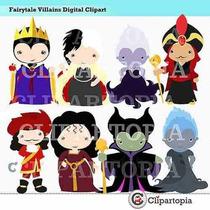 Kit Imprimible Villanos Disney Imagenes Clipart