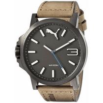 Reloj Puma Nuevo Hombre Ultrasize Cuero Marron Pu103461017