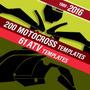 Motocross,avt,plantillas, ,vectores A Escala