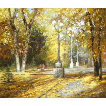 Autumn Park - Cuadros, Pinturas Al Oleo De Dmitry Spiros