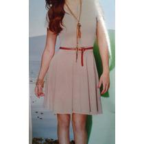 Vestido Básico Falda Circular Moda Y Bershka