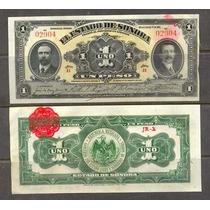 Si-son-23 Billete Del Estado De Sonora De 1 Peso