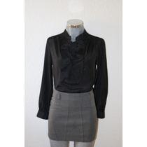 Elegante Blusa Negra De Diseñador Pertegaz