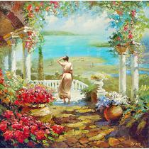 On The Terrace - Cuadros, Pinturas Al Oleo De Dmitry Spiros