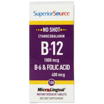 Fuente Superior No Shot Vitamina B6 / Vitamina B12 / Ácido F