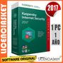 Licencia Kaspersky Internet Security 2017 1pc/1año Garantía
