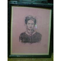 Frida Kahlo, Hermosa Pintura. Firmada A. Martínez