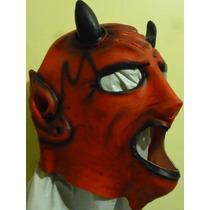 Gronda Diablo Lucha Mascara De Latex Fiestas Teatro Ddi