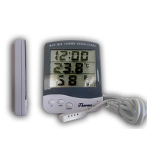 Termohigrómetro Con Reloj (manual)