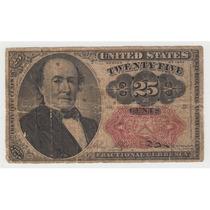 Billete De 25 Centavos De 1874 De Estados Unidos De América.